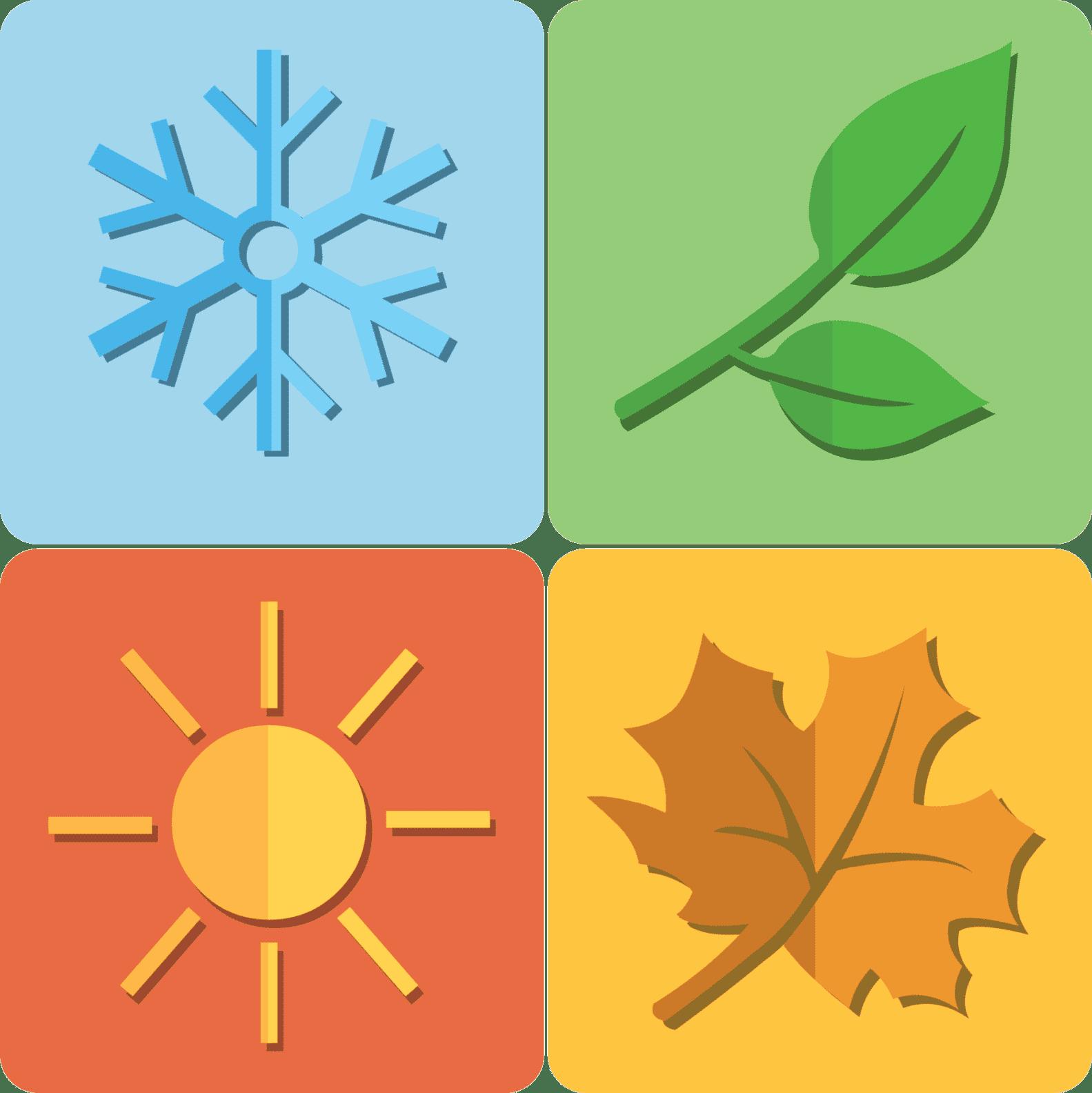 image representing all four season